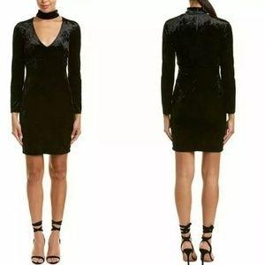 BARDOT Kira Velvet Chocker Black Dress Size 8 / M